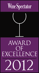 Award of Excellence by Wine Spectator 2012 logo | Karisma Hotels & Resorts®